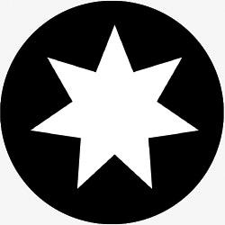 7 Point Star - InLight Gobos | Custom Gobos | Special Event Gobos
